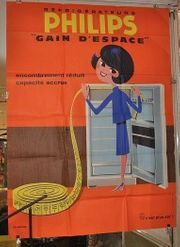 Original altes Vintage Plakat Philips