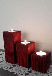 Kerzenständer Teelichthalter aus Holz