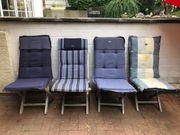 Stuhlauflagen für Hochlehner Garten- Terassenstühle