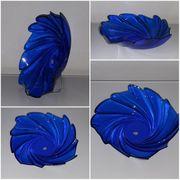 große Blauglas Glasschale Schale Schüssel