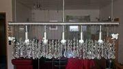 Edelstahl-Hängeleuchte mit Kristallglas Preissenkung