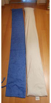 Stillkissen Rolle ca 2m blau