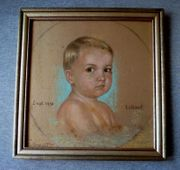 Gemälde Kinder Porträt 2 x