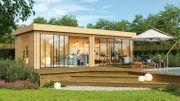 Flachdach Gartenhaus Modell Alu Concept