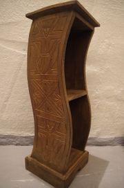 Holz Regal Schrank Afrika Handgeschnitzt