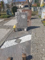 gebrauchter Grabstätte Grabstein aus Marmor