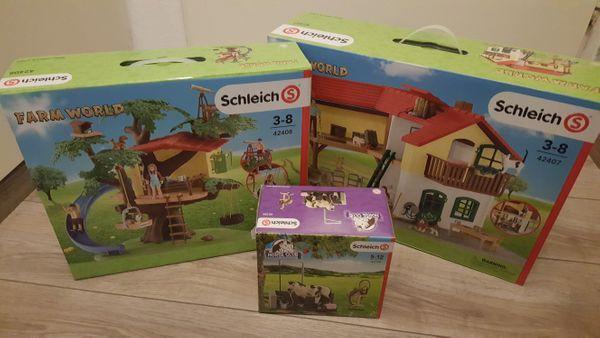 NEU Schleich Bauernhaus Baumhaus Waschplatz