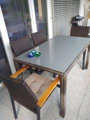 Gartengarnitur Tisch und 4 Stühle