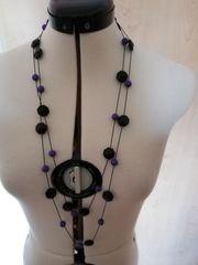 Lange schlichte Perlenkette