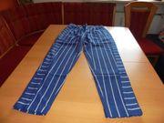 NEU Damen Schlupfhose blau-gestreift Gr