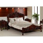 Rokoko barock Bett 160x200 cm