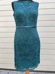 Etuikleid Cocktailkleid Abendkleid Spitzenkleid smaragdgrün