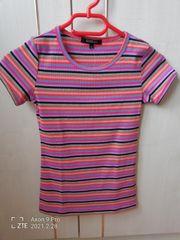 Mädchen Streifen T-Shirt Gr 140
