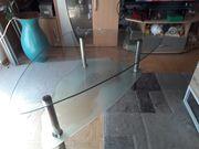 Glaschouchtisch mit Ablage da 60x80x60