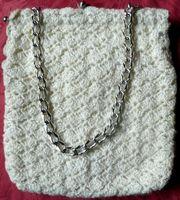Gehäkelte Handtasche - original aus den