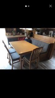 Eckbank Einbau 3 Stühle Tisch