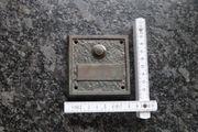 Klingelplatte aus massiv Bronze rechteckig