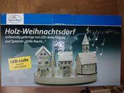Neu Holz Weihnachtsdorf m LED
