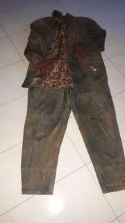 Damen Trachtenanzug Anzug Wildleder Größe