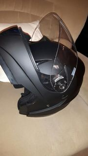 Motorrad-Klapphelm K71 matt schwarz Gr