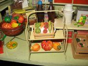 Kaufladen-Zubehör Blech-Regal Puppenstuben-Puppenküche-Puppenhaus