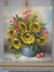 Ölgemälde - Lederer Ottmar - Sonnenblumen
