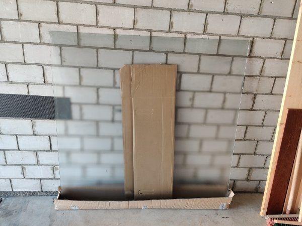 grosse Glastisch-Platte Quadratisch