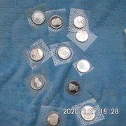 11 Stück 5 DM Gedenkmünzen
