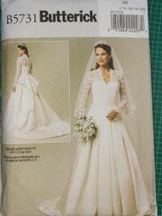 Butterick Schnittmuster Brautkleid Kate Middleton