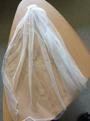 Hochzeitsschleier 80cm lang neuwertig