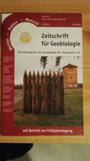 Zeitschrift für Geobiologie Wetter-Boden-Mensch