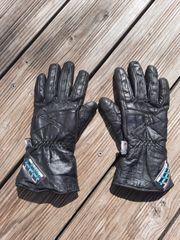 Motorradhandschuhe Leder schwarz
