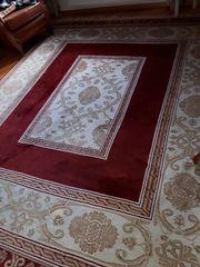 Großer Teppich echt Wolle Handgeknüpft