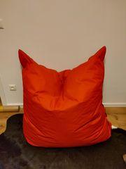 Cooler roter Sitzsack XXL rechteckige