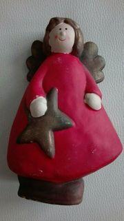 Engelsfigur mit Stern Weihnachten Dekofigur
