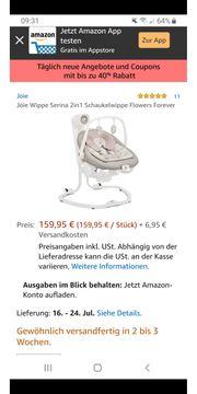 Elektrische Babywippe mit abnehmbarem Aufsarz