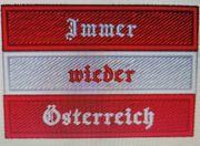 Bügelpatch Aufnäher Immer wieder Österreich