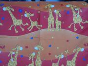 Supersüße Kinderzimmergardine mit Giraffen
