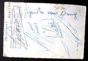 4 Autogramme von Formel 1