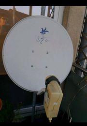 Satellitenschüssel 60cm mit Wandhalterung und