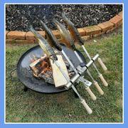 Steckerlfisch Grillaufsatz f Feuerschale- Fischhalter