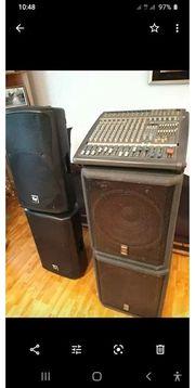 Dinacord 1002 Mixer zwei Lautsprecher