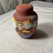 Chinesische Nakasima Hand Painted Vase