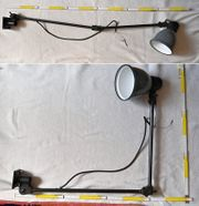 Fabrilux schwarze graue Arbeitslampe
