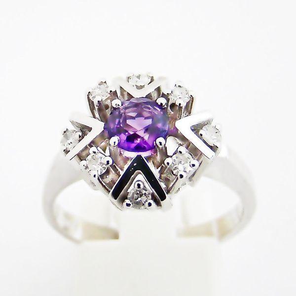 Ring Gold 585er Amethyst Diamanten