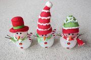 Verkaufe 3 LUMIDA Mini-Schneemänner mit