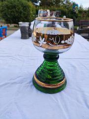 Originelles großes Römer-Weinglas mit Spieluhr