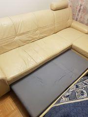 Couchgarnitur ausziehbar mit Schlafteil