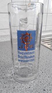 6 NEUE AUGUSTINER BIERGLÄSER
