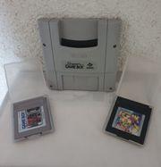 SNES Gameboy-Adapter plus 2 Spielen